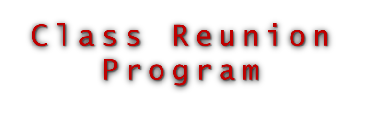 Class Reunion Program